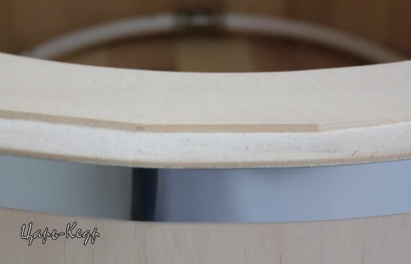 Кедровая фитобочка овальная «ЗЕВС ПРЕМИУМ» со скосом