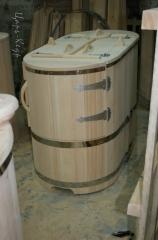 Кедровая фитосауна полулежачая «ЗЕВС» со скосом