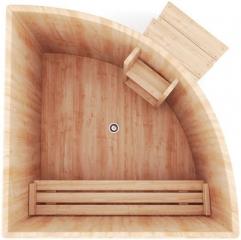 Угловая купель для бани