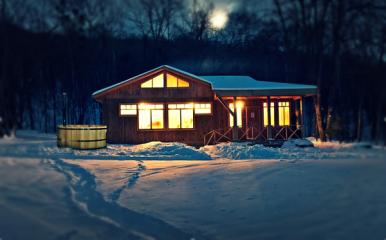зимним вечерком